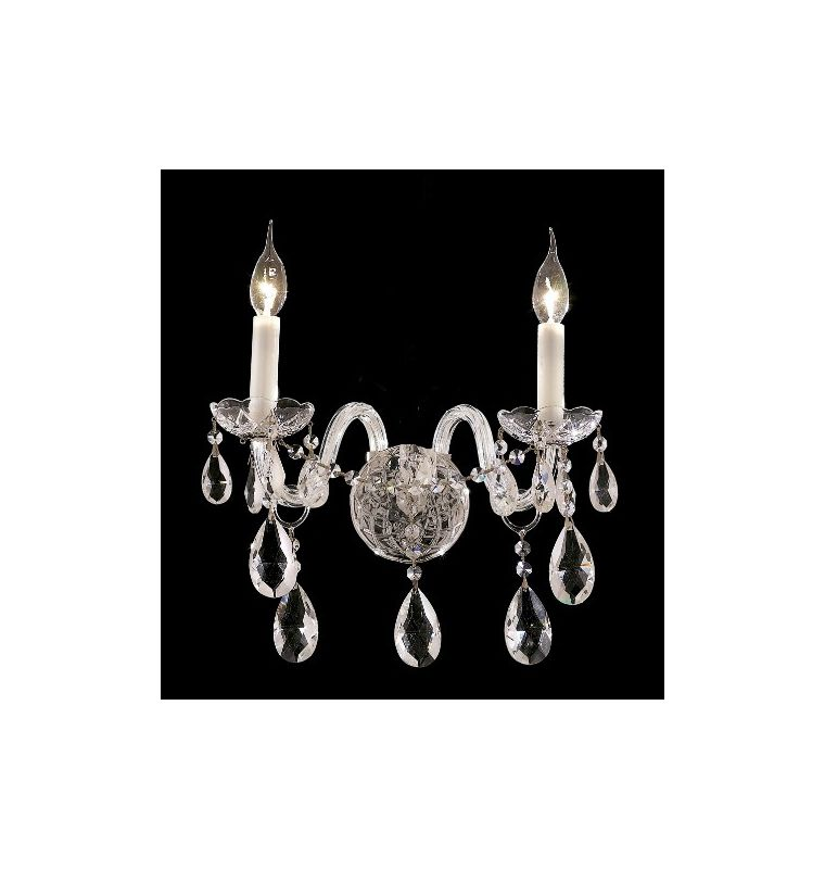 Elegant Lighting 7829W2C Alexandria 2-Light Crystal Wall Sconce