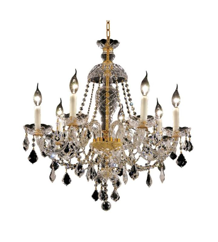 Elegant Lighting 7831D26G Alexandria 7-Light Single-Tier Crystal