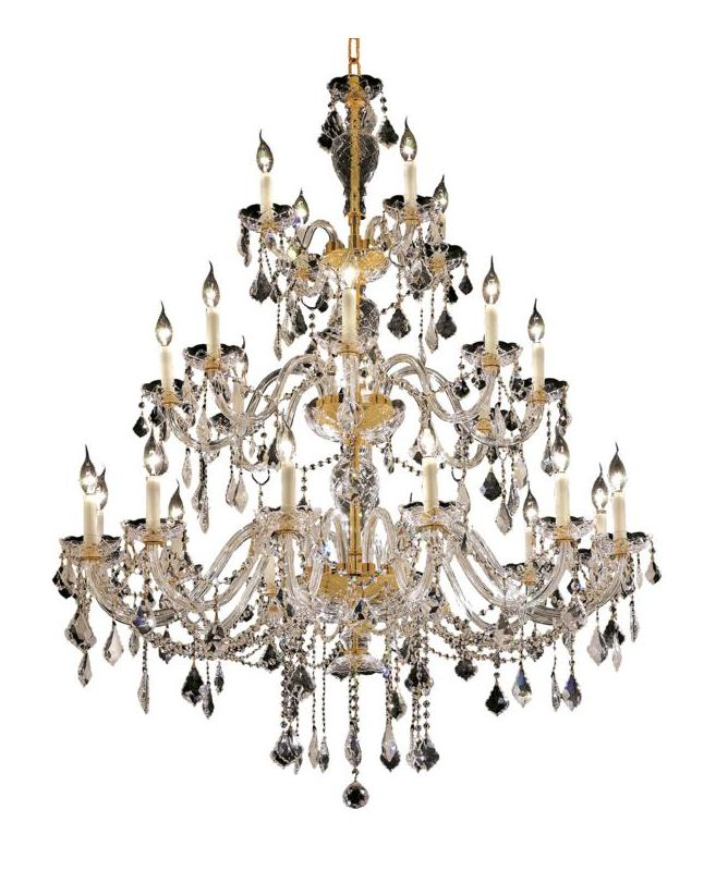 Elegant Lighting 7831G45G Alexandria 24-Light Three-Tier Crystal