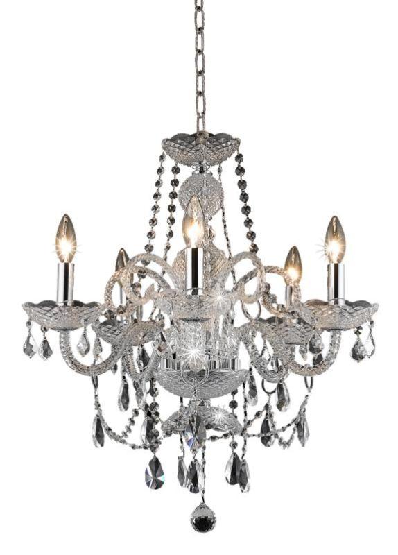 Elegant Lighting 7835D20C Princeton 5-Light Single-Tier Crystal Sale $326.00 ITEM: bci2015449 ID#:7835D20C/RC UPC: 848145062015 :