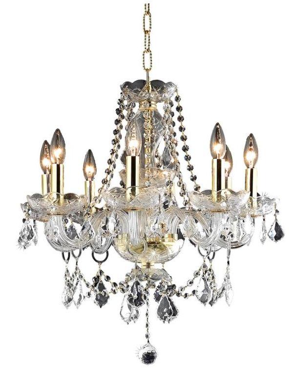 Elegant Lighting 7838D20G Princeton 8-Light Single-Tier Crystal Sale $390.00 ITEM: bci2015454 ID#:7838D20G/RC UPC: 848145062114 :