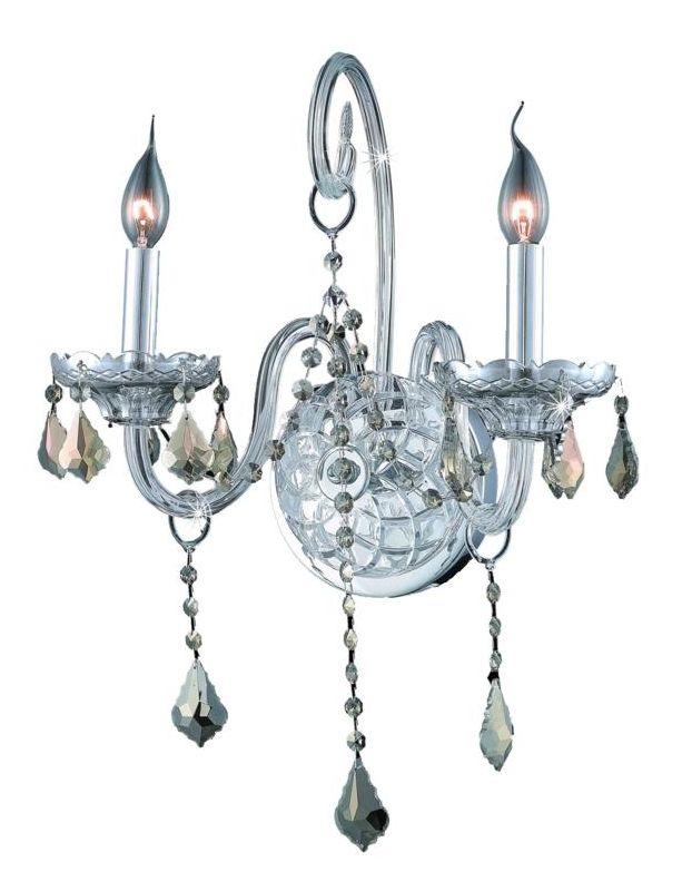 Elegant Lighting 7852W2C-GT Verona 2-Light Crystal Wall Sconce Sale $564.00 ITEM: bci2015460 ID#:7852W2C-GT/SS UPC: 848145062183 :