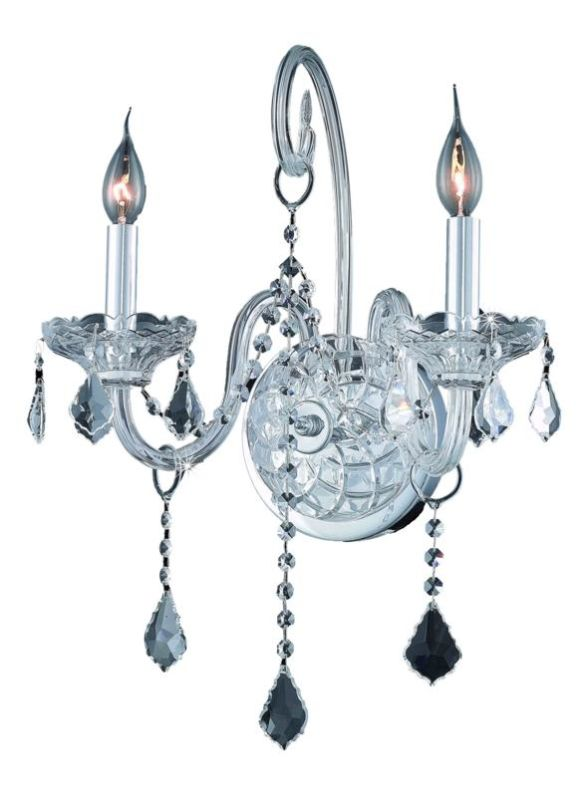 Elegant Lighting 7852W2C Verona 2-Light Crystal Wall Sconce Finished