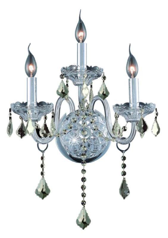 Elegant Lighting 7853W3C-GT Verona 3-Light Crystal Wall Sconce Sale $716.00 ITEM: bci2015476 ID#:7853W3C-GT/SS UPC: 848145062329 :