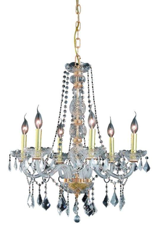 Elegant Lighting 7856D24G Verona 6-Light Single-Tier Crystal Sale $520.00 ITEM: bci2015509 ID#:7856D24G/RC UPC: 848145062626 :