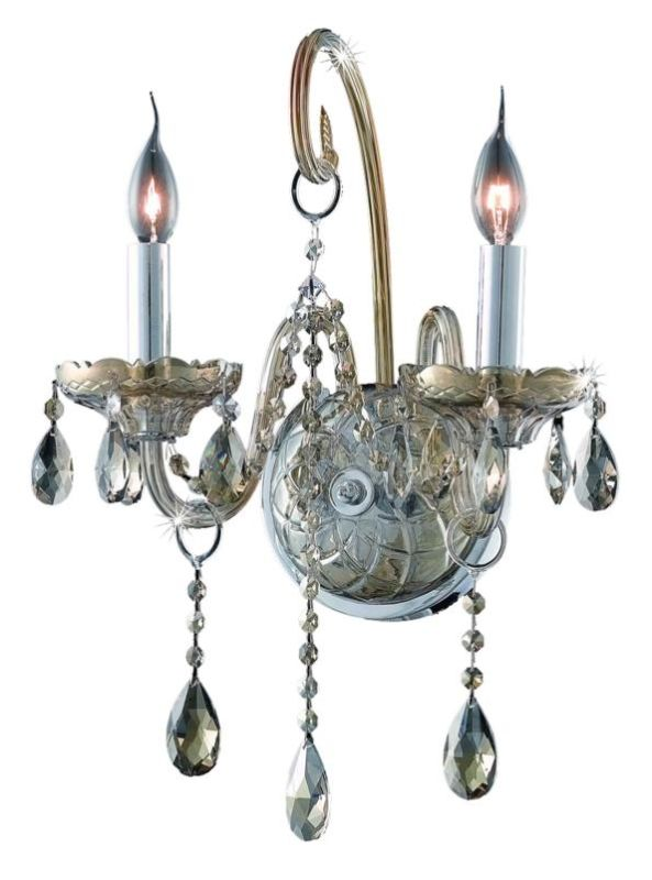 Elegant Lighting 7952W2GT-GT Verona 2-Light Crystal Wall Sconce Sale $284.00 ITEM: bci2015605 ID#:7952W2GT-GT/RC UPC: 848145063555 :