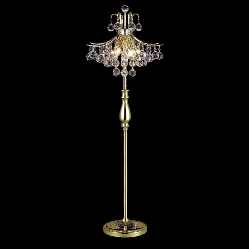Elegant Lighting 8000FL16G Toureg 6-Light Crystal Floor Lamp Finished