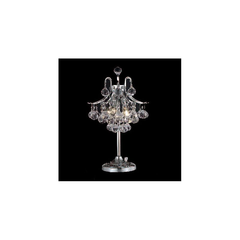 Elegant Lighting 8000TL13C Toureg 3-Light Crystal Table Lamp Finished