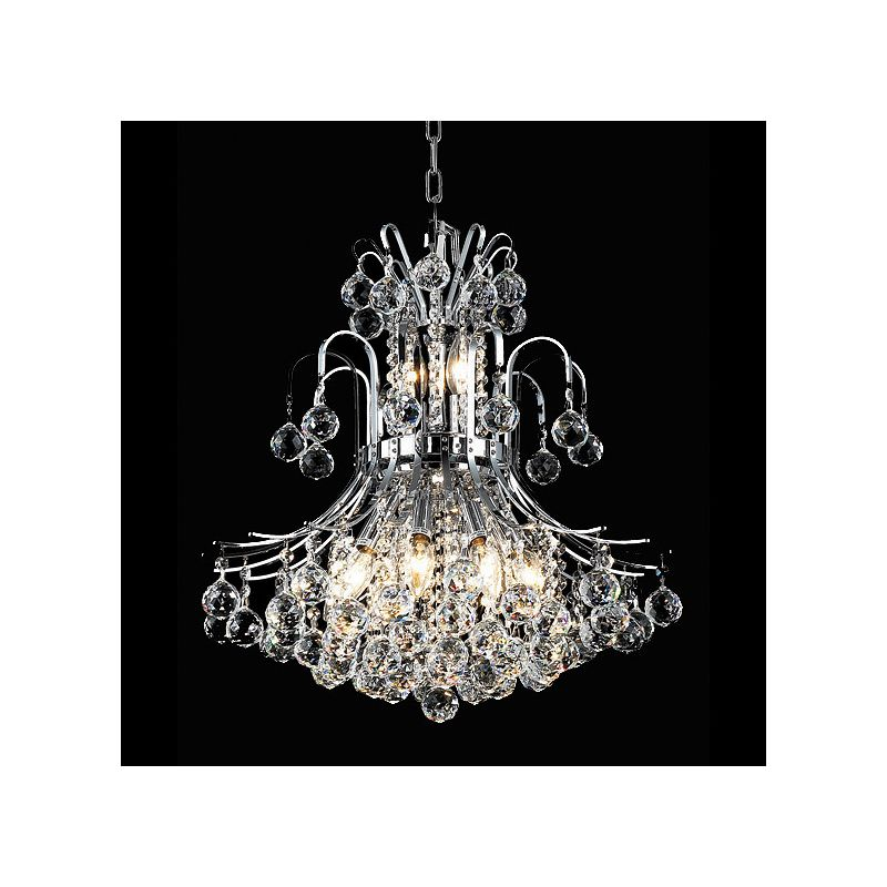 Elegant Lighting 8001D19C Toureg 10-Light Two-Tier Crystal
