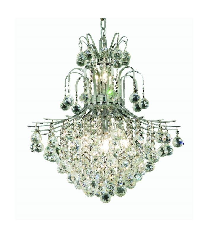Elegant Lighting 8002D22C Toureg 11-Light Two-Tier Crystal