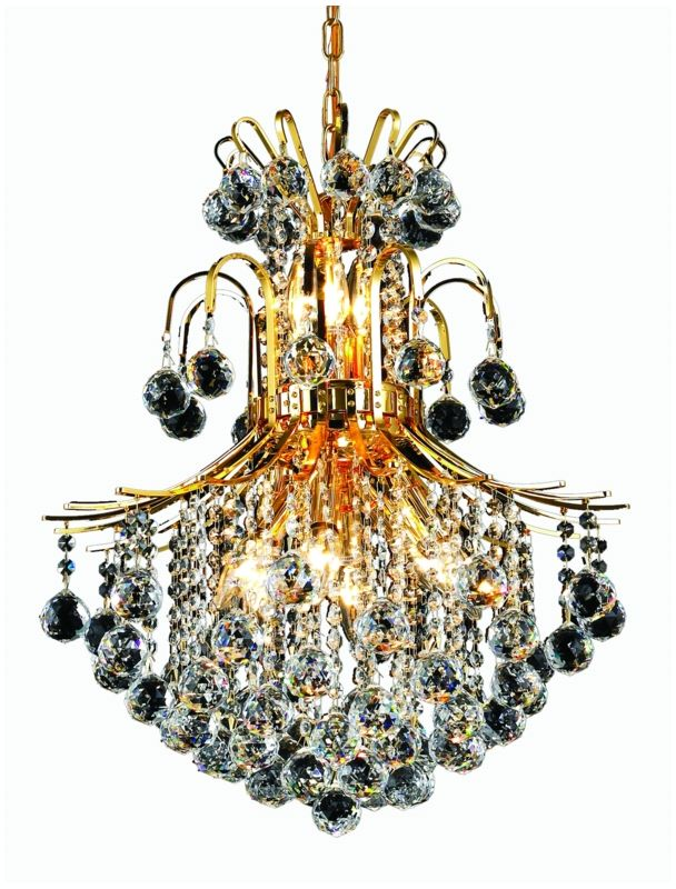 Elegant Lighting 8002D22G Toureg 11-Light Two-Tier Crystal