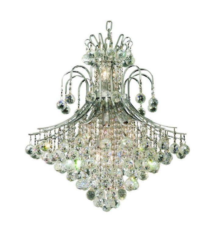 Elegant Lighting 8003D25C Toureg 15-Light Two-Tier Crystal