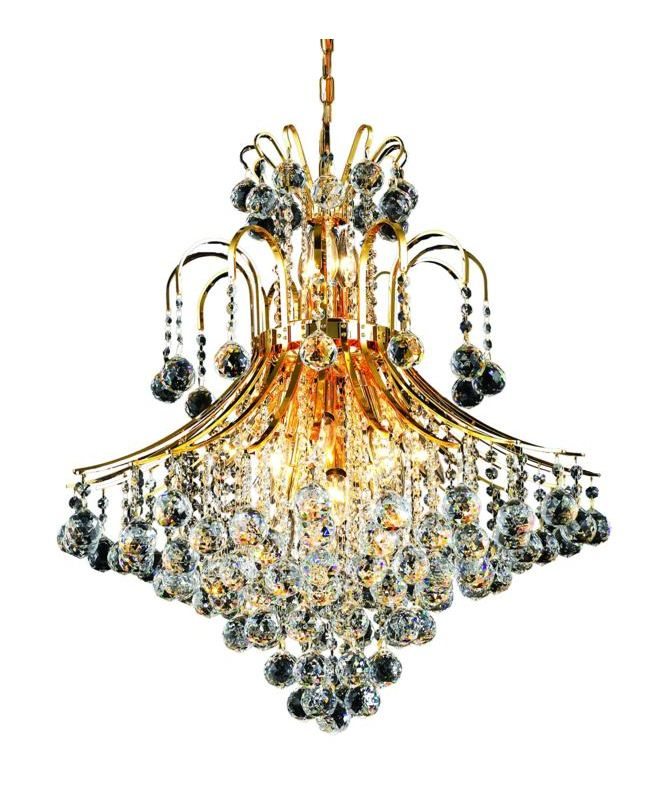 Elegant Lighting 8003D25G Toureg 15-Light Two-Tier Crystal