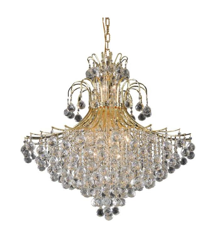 Elegant Lighting 8005G31G Toureg 15-Light Two-Tier Crystal