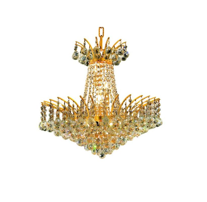 Elegant Lighting 8031D19G Victoria 8-Light Two-Tier Crystal