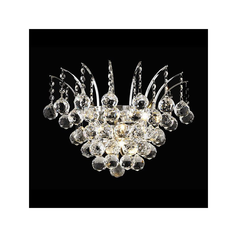Elegant Lighting 8031W16C Victoria 3-Light Crystal Wall Sconce