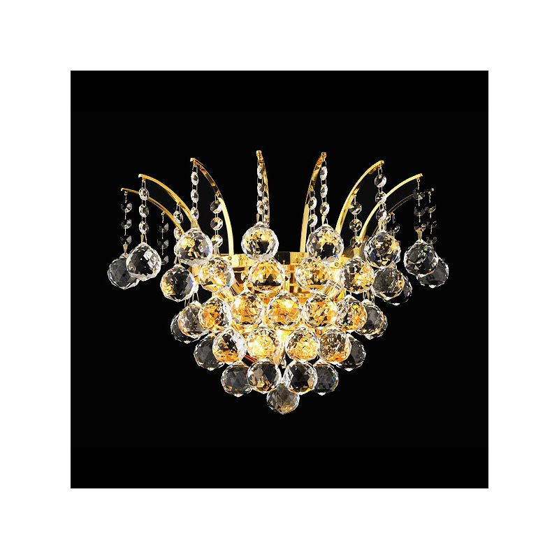 Elegant Lighting 8031W16G Victoria 3-Light Crystal Wall Sconce