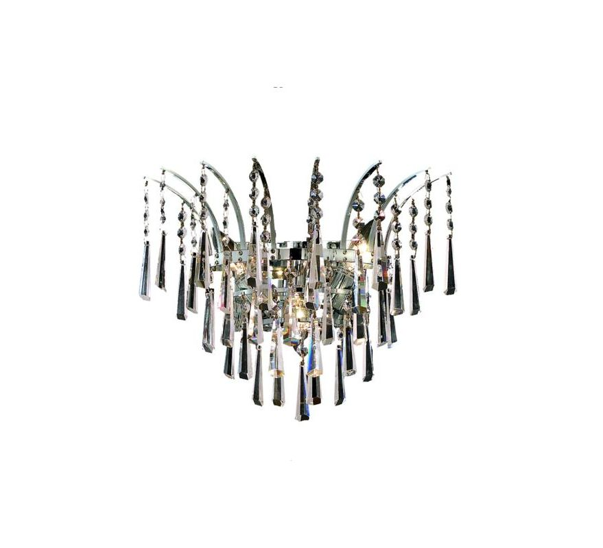 Elegant Lighting 8032W16C Victoria 3-Light Crystal Wall Sconce
