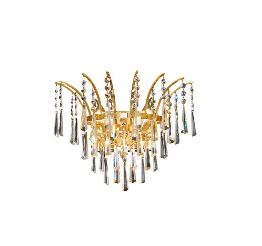 Elegant Lighting 8032W16G Victoria 3-Light Crystal Wall Sconce