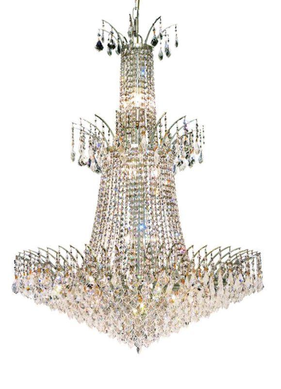 Elegant Lighting 8033G32C Victoria 18-Light 4 Tier Crystal Chandelier