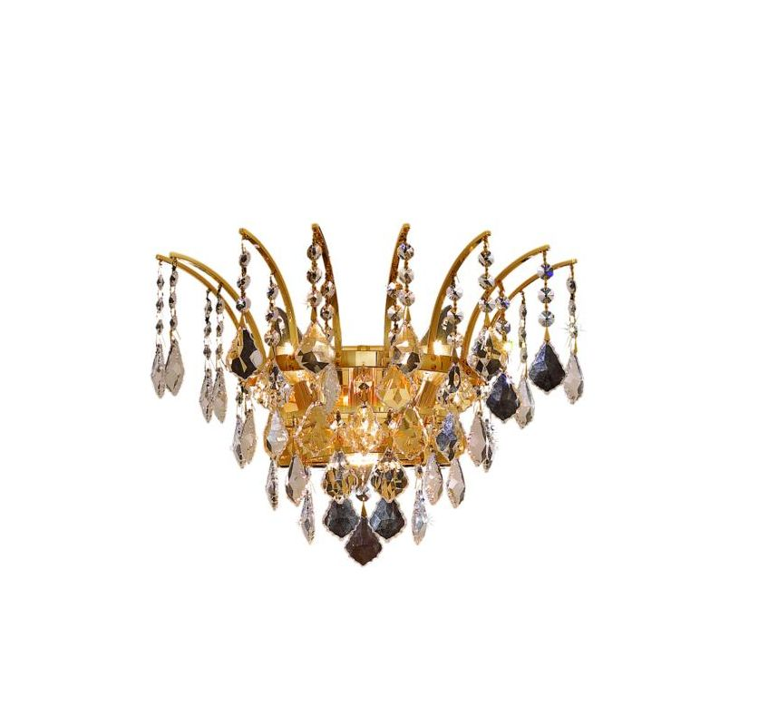 Elegant Lighting 8033W16G Victoria 3-Light Crystal Wall Sconce