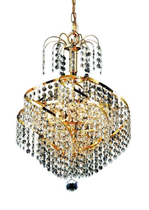 Elegant Lighting 8052D14G Spiral 3-Light Single-Tier Crystal Sale $1298.00 ITEM: bci2015960 ID#:8052D14G/SS UPC: 848145067027 :