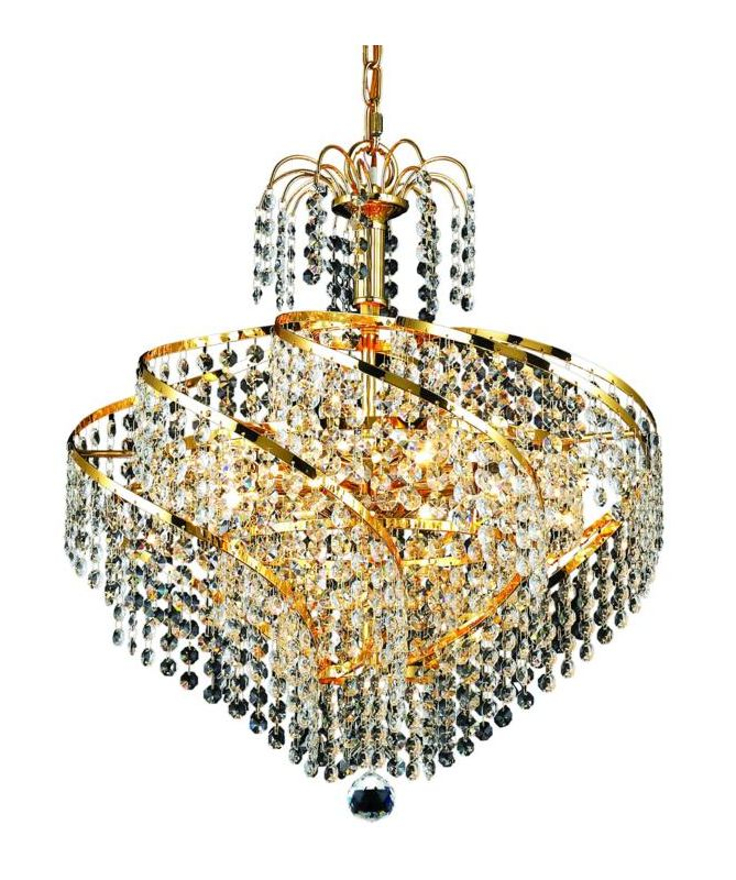 Elegant Lighting 8052D18G Spiral 8-Light Single-Tier Crystal Sale $1126.00 ITEM: bci2015967 ID#:8052D18G/SA UPC: 848145067096 :