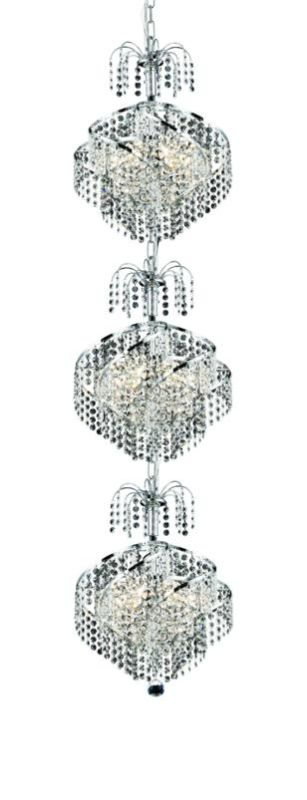 Elegant Lighting 8052G14C Spiral 9-Light Three-Tier Crystal