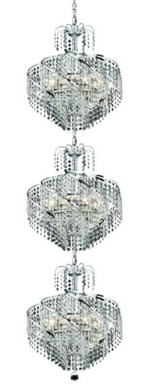 Elegant Lighting 8052G18C Spiral 24-Light Three-Tier Crystal