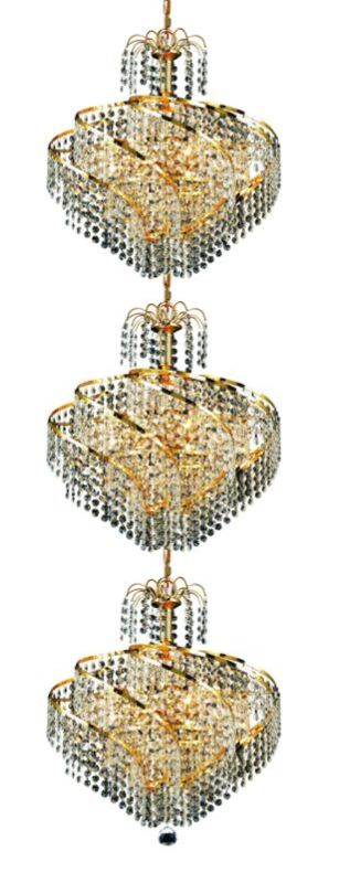 Elegant Lighting 8052G18G Spiral 24-Light Three-Tier Crystal