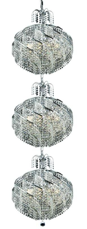 Elegant Lighting 8052G22C Spiral 30-Light Three-Tier Crystal