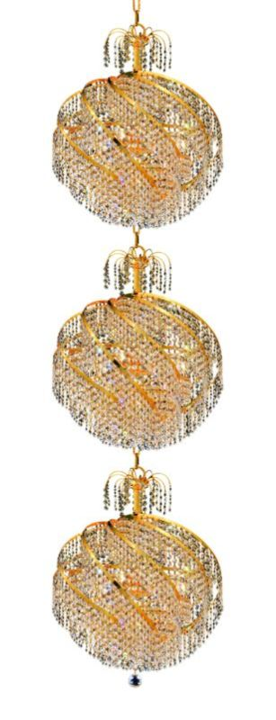 Elegant Lighting 8052G22G Spiral 30-Light Three-Tier Crystal