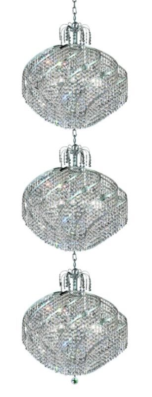Elegant Lighting 8052G26C Spiral 45-Light Three-Tier Crystal
