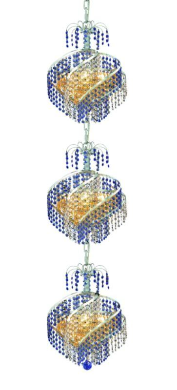 Elegant Lighting 8053G14C Spiral 9-Light Three-Tier Crystal