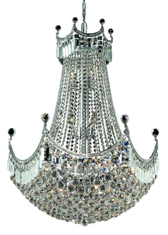 Elegant Lighting 8949D30C Corona 24-Light 3 Tier Chandelier Crystal