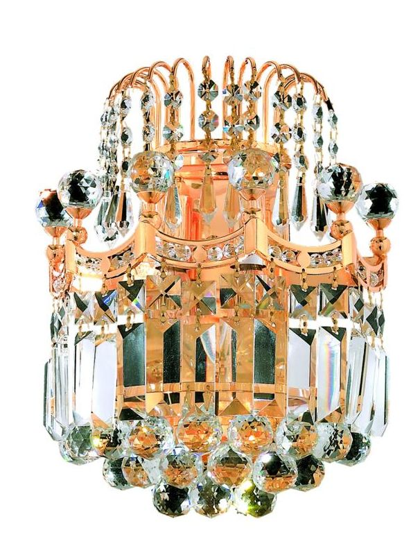 Elegant Lighting 8949W12G Corona 2-Light Crystal Wall Sconce Finished