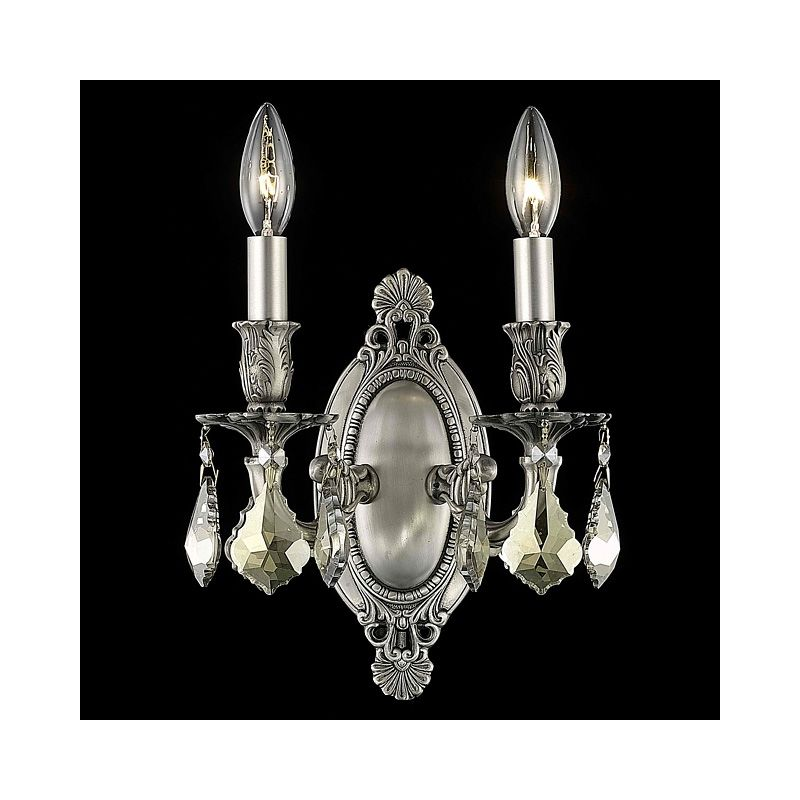 Elegant Lighting 9202W9PW-GT Rosalia 2-Light Crystal Wall Sconce Sale $288.00 ITEM: bci2016201 ID#:9202W9PW-GT/RC UPC: 848145070249 :