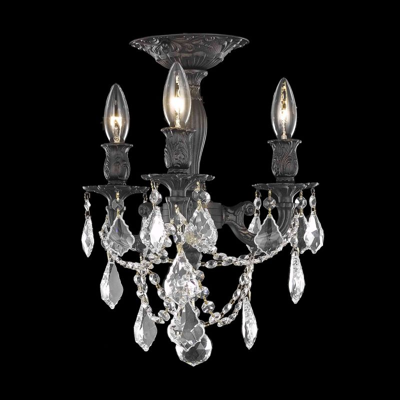 Elegant Lighting 9203F13DB Rosalia 3-Light -Tier Semi-Flush Crystal Sale $1000.00 ITEM: bci2016234 ID#:9203F13DB/SS UPC: 848145070591 :