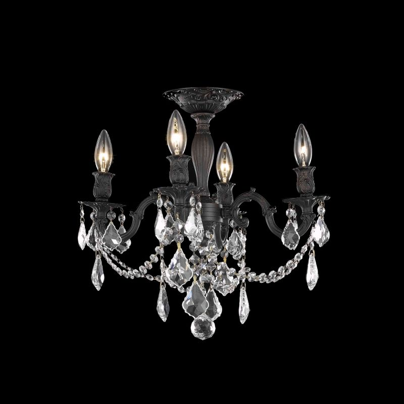 Elegant Lighting 9204F17DB Rosalia 4-Light -Tier Semi-Flush Crystal Sale $1180.00 ITEM: bci2016278 ID#:9204F17DB/SS UPC: 848145071390 :