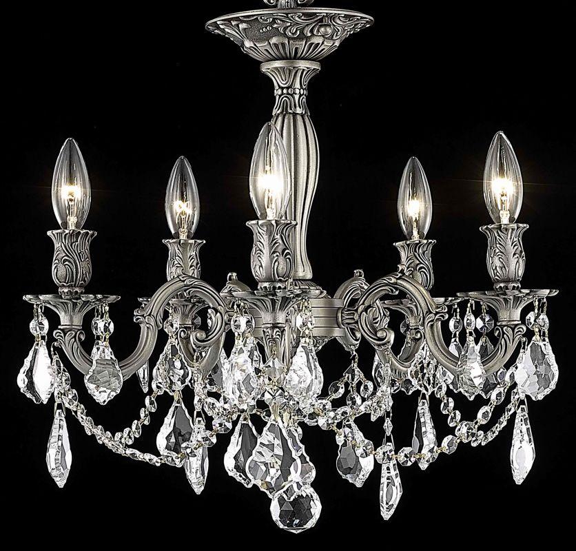 Elegant Lighting 9205F18PW Rosalia 5-Light Single-Tier Semi-Flush Sale $1644.00 ITEM: bci2016340 ID#:9205F18PW/SS UPC: 848145072250 :