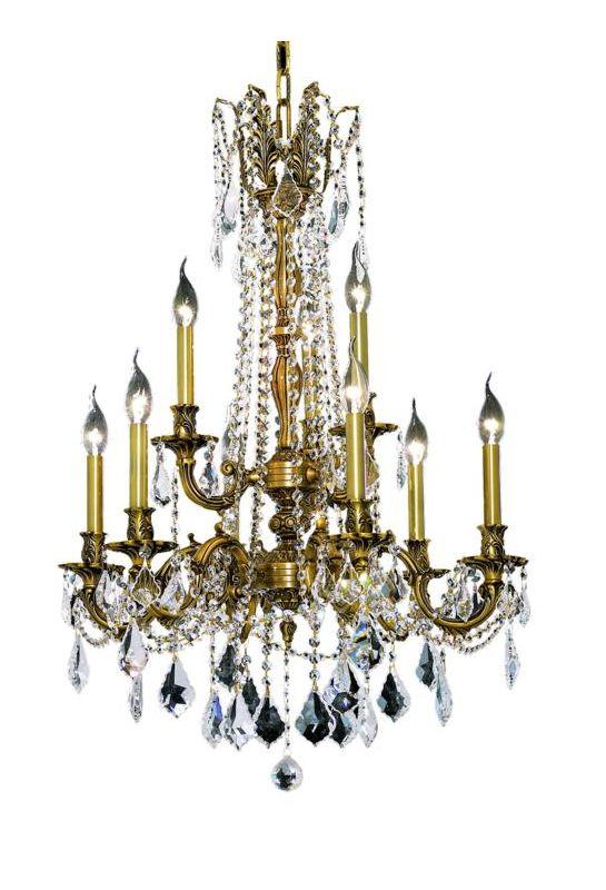 Elegant Lighting 9209D23FG Rosalia 9-Light Two-Tier Crystal