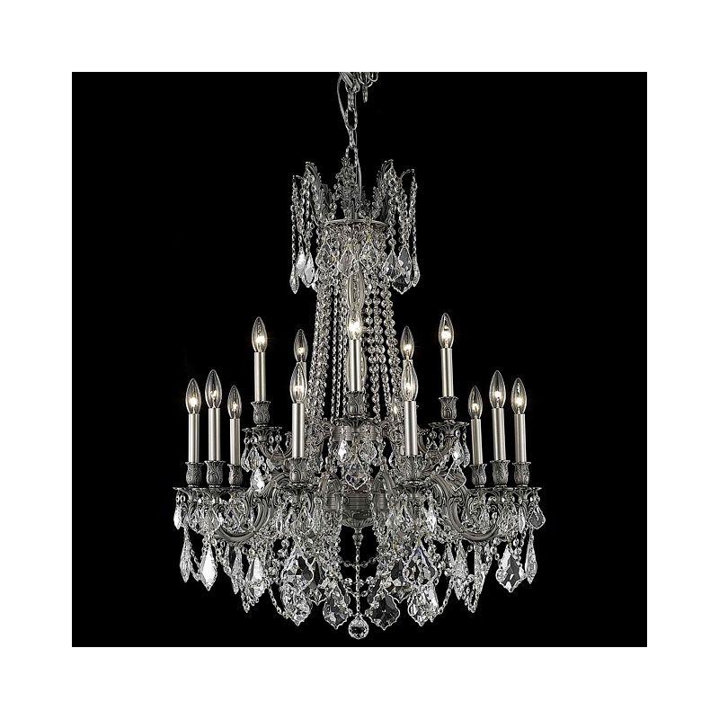 Elegant Lighting 9215D28PW Rosalia 15-Light Two-Tier Crystal Sale $3690.00 ITEM: bci2016487 ID#:9215D28PW/SA UPC: 848145074834 :