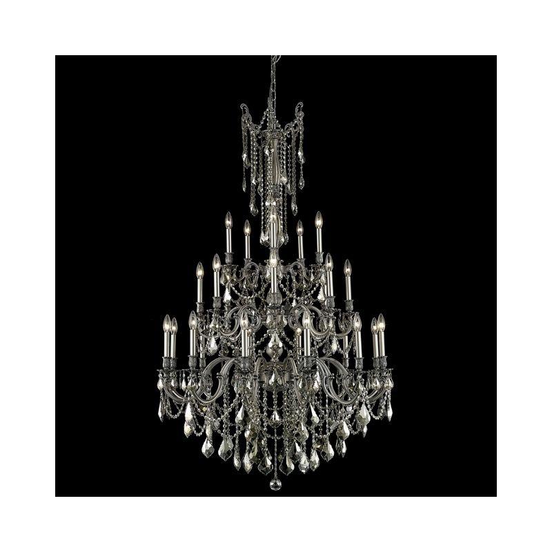 Elegant Lighting 9225G38PW-GT Rosalia 25-Light Three-Tier Crystal