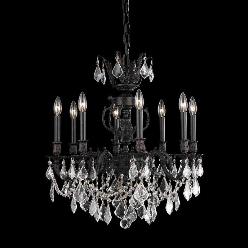 Elegant Lighting 9508D24DB Marseille 8-Light Single-Tier Crystal