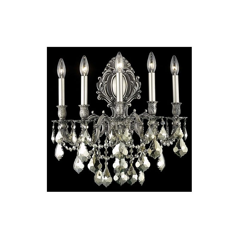 Elegant Lighting 9605W21PW-GT Monarch 5-Light Crystal Wall Sconce Sale $1292.00 ITEM: bci2016972 ID#:9605W21PW-GT/SS UPC: 848145078450 :