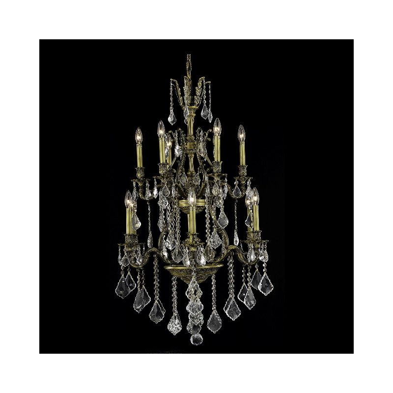 Elegant Lighting 9612D27AB Monarch 12-Light Two-Tier Crystal Sale $1320.00 ITEM: bci2017055 ID#:9612D27AB/RC UPC: 609613261008 :