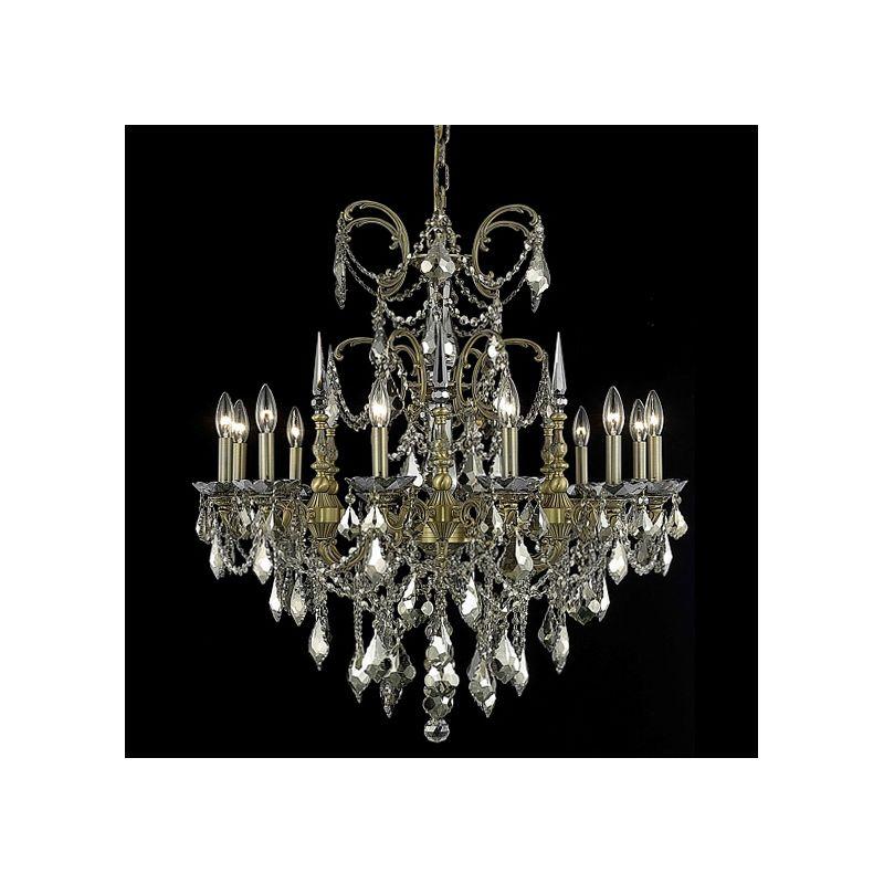 Elegant Lighting 9712D32FG-GT Athena 12-Light Single-Tier Crystal