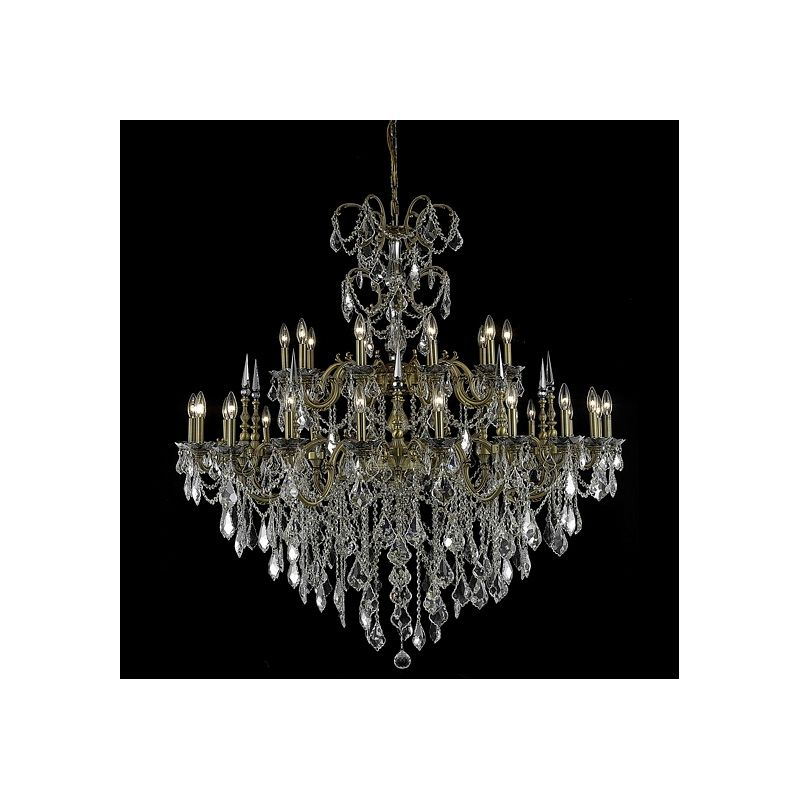 Elegant Lighting 9730G53FG Athena 30-Light Two-Tier Crystal
