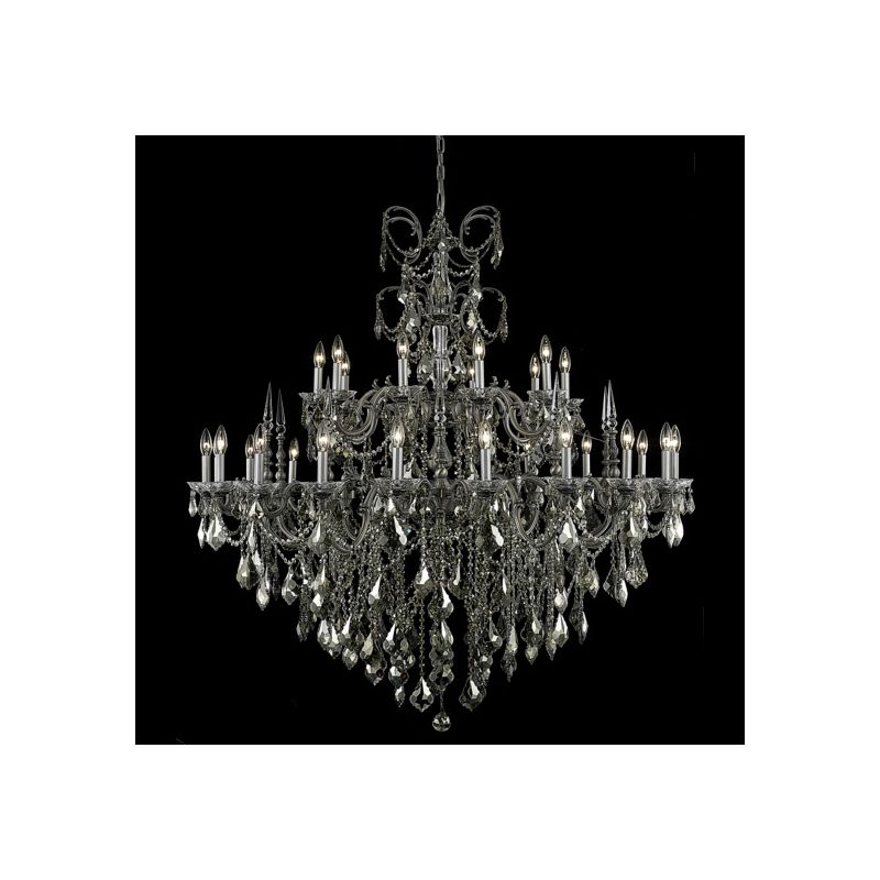 Elegant Lighting 9730G53PW-GT Athena 30-Light Two-Tier Crystal