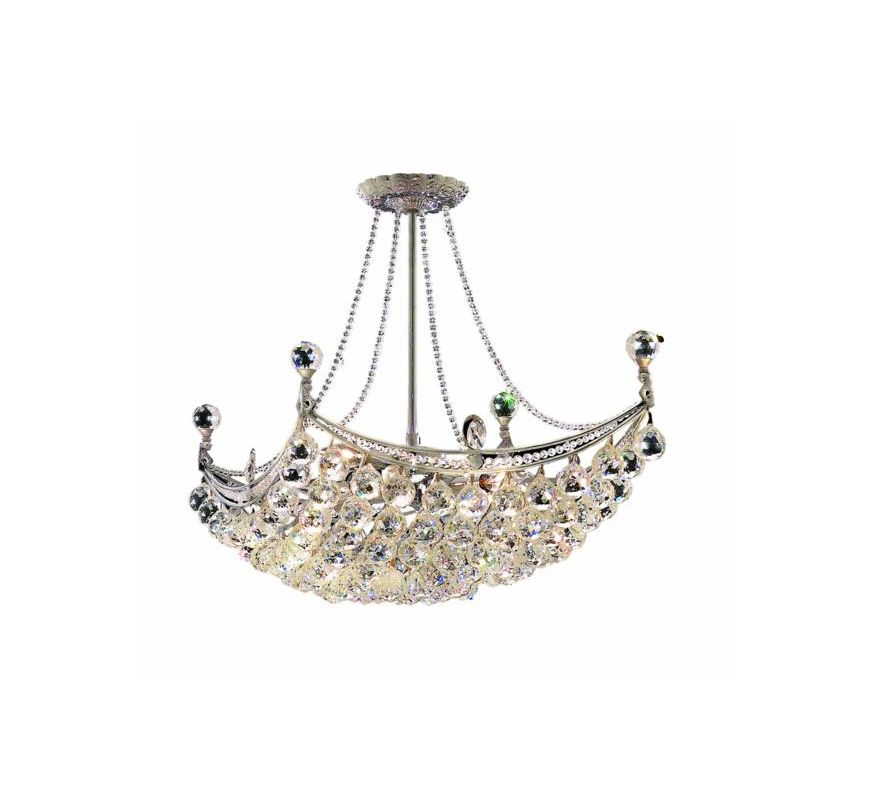 Elegant Lighting 9800D28C Corona 8-Light Crystal Pendant Finished in